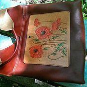Классическая сумка ручной работы. Ярмарка Мастеров - ручная работа Женская сумка из натуральной кожи с тиснением.. Handmade.