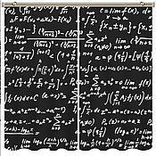 """Для дома и интерьера ручной работы. Ярмарка Мастеров - ручная работа Комплект штор """"Физика"""" с фотопечатью. Handmade."""