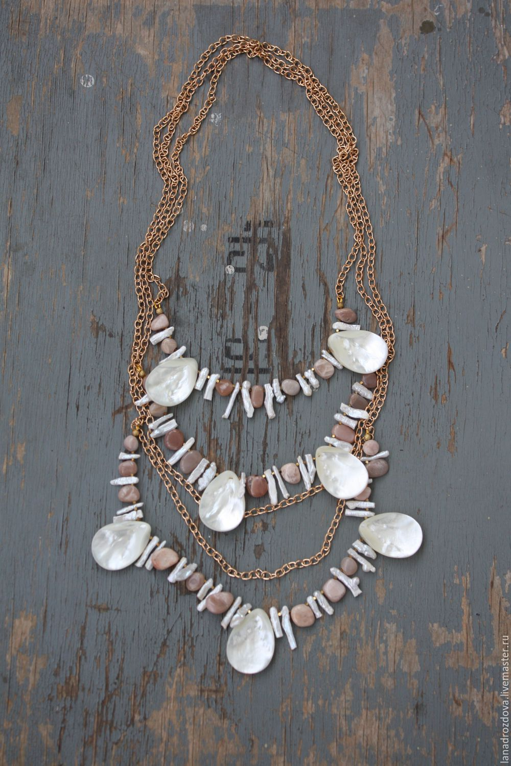 tiered beaded kantha vivaterra necklace