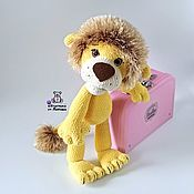 Куклы и игрушки handmade. Livemaster - original item Levushka knitted toy lion as a gift a lion cub made of plush yarn. Handmade.
