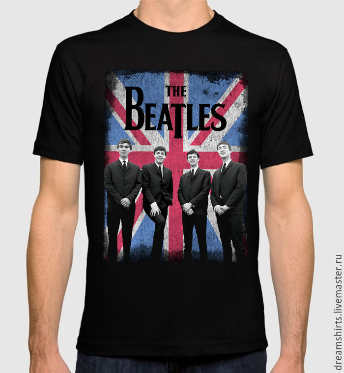 "Футболка с принтом ""The Beatles"", T-shirts, Moscow,  Фото №1"