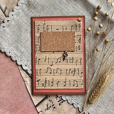 Сувениры и подарки ручной работы. Ярмарка Мастеров - ручная работа Открытка «Музыкальный секрет». Handmade.