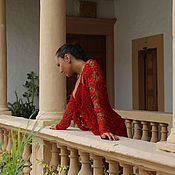 Одежда ручной работы. Ярмарка Мастеров - ручная работа Кофта горячая испанка. Handmade.