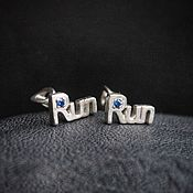 Украшения handmade. Livemaster - original item Jogging, earrings with a twist RUN. Handmade.