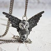 Украшения handmade. Livemaster - original item Silver pendant Owl. Handmade.