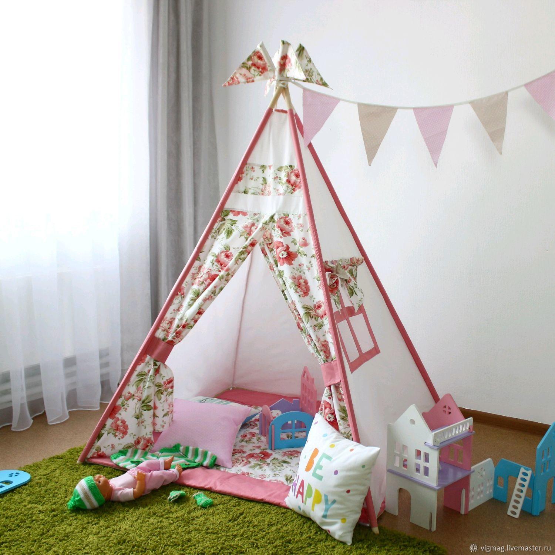 Tepee for girls, Nursery wigwam, Ivanovo,  Фото №1