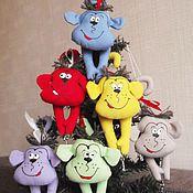 Куклы и игрушки ручной работы. Ярмарка Мастеров - ручная работа Обезьянки на елку, магнит. Handmade.