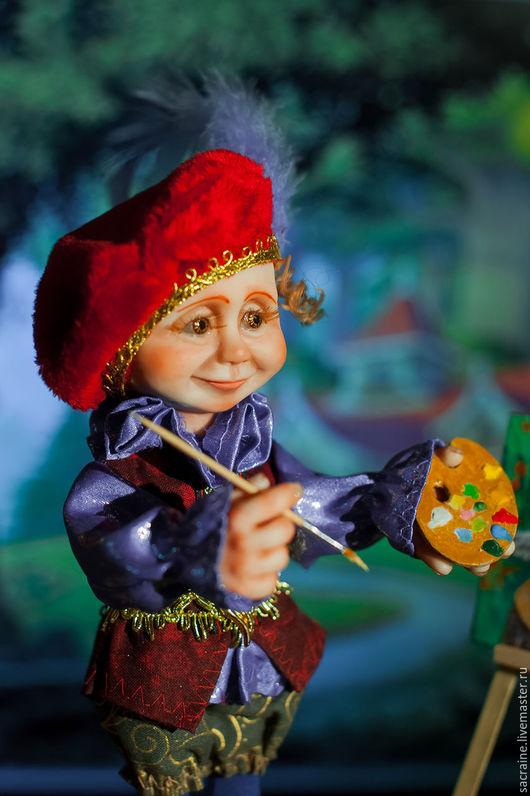 Коллекционные куклы ручной работы. Ярмарка Мастеров - ручная работа. Купить Гном-художник Вилли. Handmade. Комбинированный, танцующие эльфы