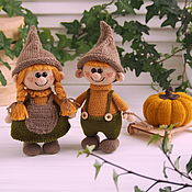 Куклы и игрушки handmade. Livemaster - original item Soft toys: Dwarves with pumpkin. Handmade.