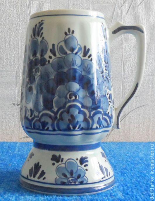 Винтажная посуда. Ярмарка Мастеров - ручная работа. Купить Пивная кружка Delft. Handmade. Голубой, delft, фарфор