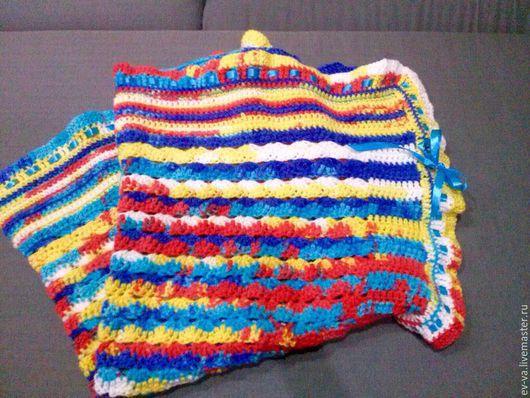 Текстиль, ковры ручной работы. Ярмарка Мастеров - ручная работа. Купить Плед для взрослых и детей. Handmade. Разноцветный, яркий подарок