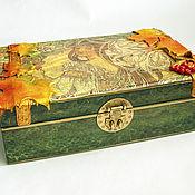 Для дома и интерьера handmade. Livemaster - original item Large box with a mirror