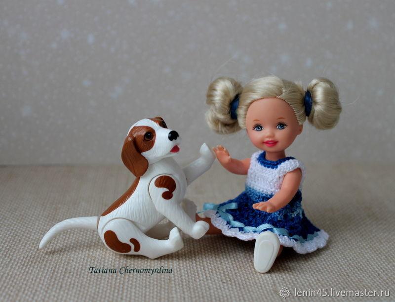 Платья для маленькой куклы 12 см, Одежда для кукол, Стерлитамак,  Фото №1