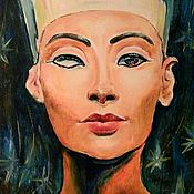 """картина маслом """"Нефертити """"30-40 см"""
