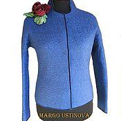 """Одежда ручной работы. Ярмарка Мастеров - ручная работа Валяный жакет """"Classic blue"""". Handmade."""