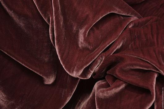 Шитье ручной работы. Ярмарка Мастеров - ручная работа. Купить Бархат шелковый лиловый, баклажан (шелк-70%, вискоза-30%) Германия. Handmade.