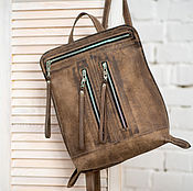 Классическая сумка ручной работы. Ярмарка Мастеров - ручная работа Рюкзак BONNIE/B. Handmade.