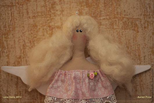 Куклы Тильды ручной работы. Ярмарка Мастеров - ручная работа. Купить - Малышка Рози - тильда. Handmade. Бледно-розовый, кружево