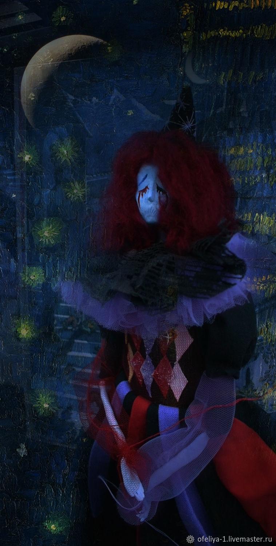 Кукла: Печальный клоун, Портретная кукла, Екатеринбург,  Фото №1