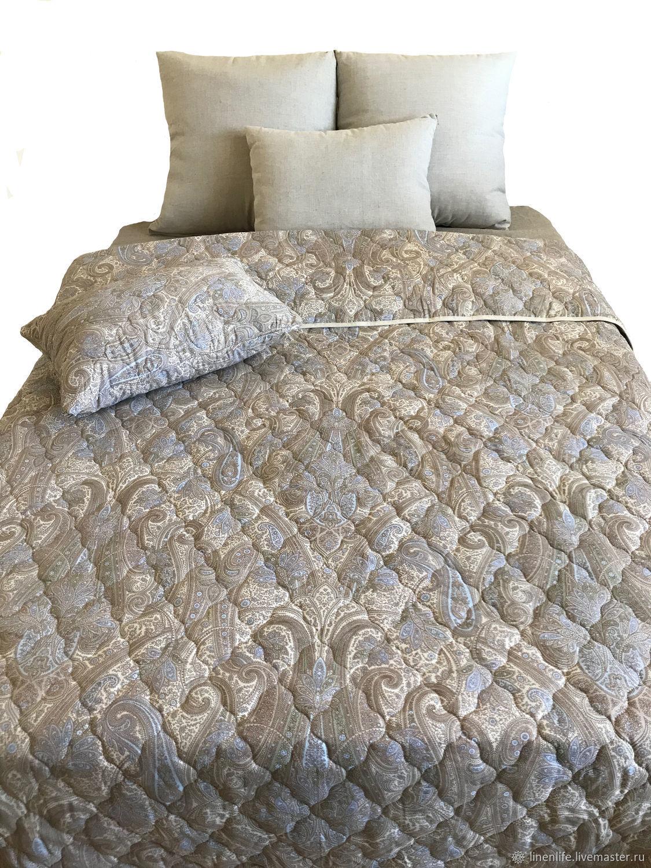 """Покрывало льняное - покрывало на кровать """"Кашмир"""", Подзоры и юбки для кровати, Иваново,  Фото №1"""