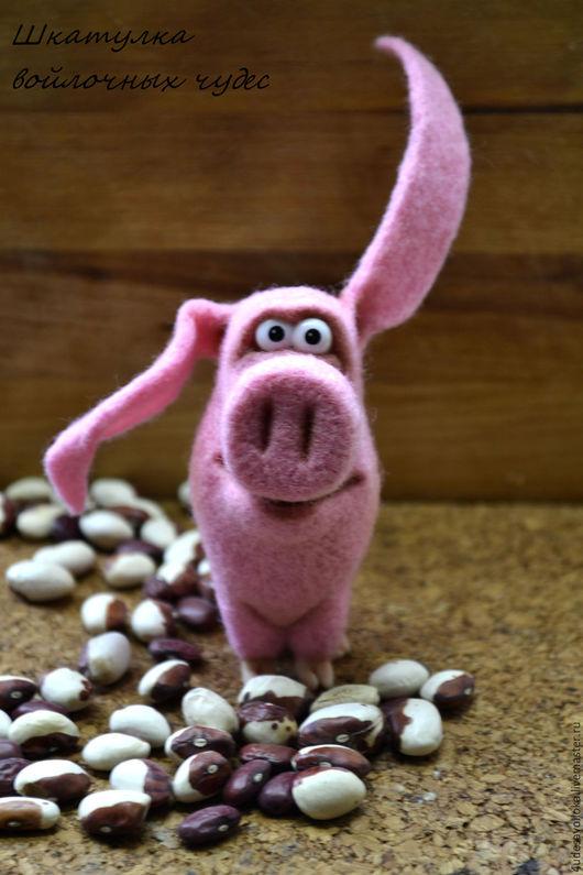 Игрушки животные, ручной работы. Ярмарка Мастеров - ручная работа. Купить Поросенок Вася. Handmade. Розовый, войлочная скульптура