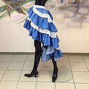 """Одежда ручной работы. Ярмарка Мастеров - ручная работа Юбка """"Джинсово-кружевная пена"""". Handmade."""