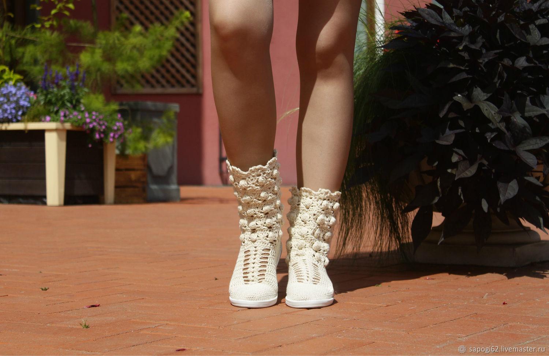 Summer boots 'Vanessa', High Boots, Ryazan,  Фото №1