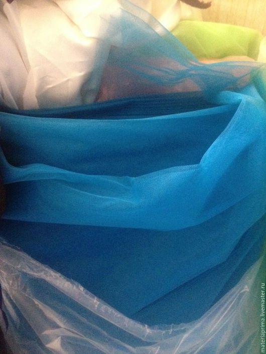 Шитье ручной работы. Ярмарка Мастеров - ручная работа. Купить фатин евро матовый 3-метровый Морская синева. Handmade.