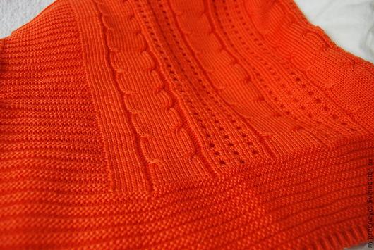 """Пледы и одеяла ручной работы. Ярмарка Мастеров - ручная работа. Купить Плед вязаный """"Оранжевое счастье"""". Handmade. Рыжий, пледик"""