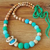 "Одежда handmade. Livemaster - original item Слингобусы ""Зеленая бирюза"" - вариант с колечками. Handmade."
