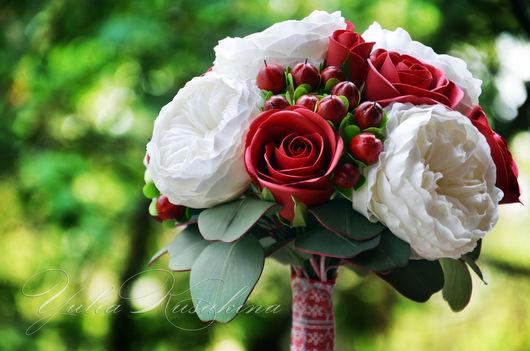 Свадебные цветы ручной работы. Ярмарка Мастеров - ручная работа. Купить Яркий,сочный букет невесты. Handmade. Букет из фоамирана