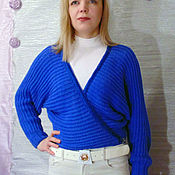 Одежда handmade. Livemaster - original item Sweater knit Dolman wrap decor.. Handmade.