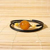 Украшения handmade. Livemaster - original item Amber bracelet on a string Br-220. Handmade.