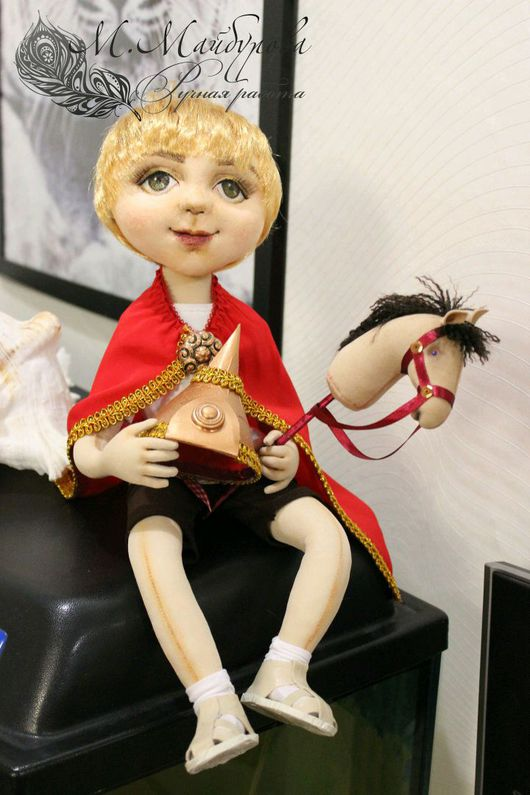 Коллекционные куклы ручной работы. Ярмарка Мастеров - ручная работа. Купить Авторская текстильная кукла. Handmade. Богатырь, подарок, трикотаж