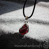 Украшения handmade. Livemaster - original item Pendant with garnet in silver (stones to choose from). Handmade.