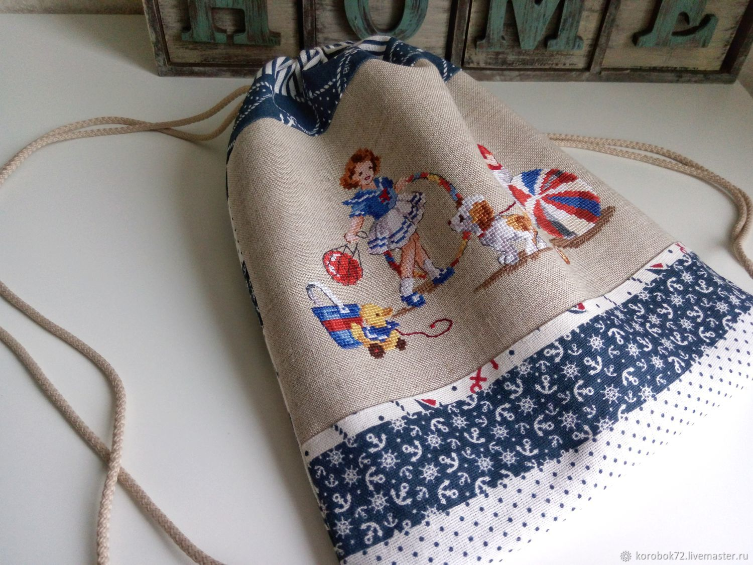 Backpack bag for children hand embroidery cross stitch, Backpacks, St. Petersburg,  Фото №1