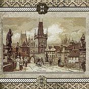 Картины и панно handmade. Livemaster - original item Embroidery kit Prague. The Charles Bridge. Handmade.