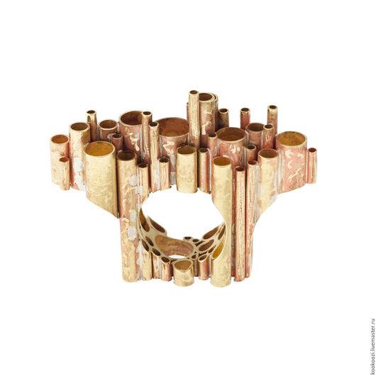 """Кольца ручной работы. Ярмарка Мастеров - ручная работа. Купить Кольцо """"Тростник"""". Handmade. Комбинированный, латунь"""