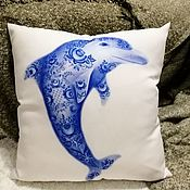 Для дома и интерьера handmade. Livemaster - original item Pillow with the author`s print