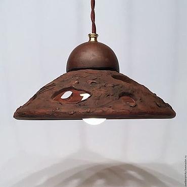 """Для дома и интерьера ручной работы. Ярмарка Мастеров - ручная работа Керамический светильник """"Морской прибой"""". Handmade."""