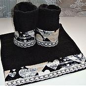 Для дома и интерьера handmade. Livemaster - original item I LOVE MUSIC - a set of towels in a basket. Handmade.