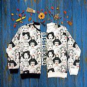 """Одежда ручной работы. Ярмарка Мастеров - ручная работа Свитшот-раскраска """"Женщины"""". Handmade."""