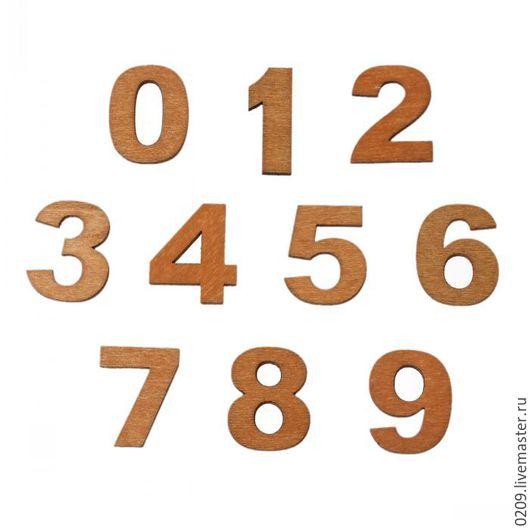 Декупаж и роспись ручной работы. Ярмарка Мастеров - ручная работа. Купить цифры деревянные. Handmade. Бежевый, деревянные заготовки, циферблат