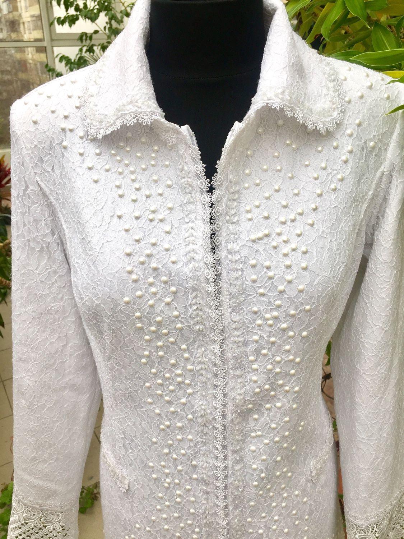 Designer coat, women's coat, white coat, Coats, Moscow,  Фото №1