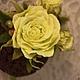"""Топиарии ручной работы. Топиарий """"Лимонная роза"""". Юлия Ким. Ярмарка Мастеров. Интерьерная композиция, фоамиран"""