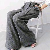 Брюки ручной работы. Ярмарка Мастеров - ручная работа Широкие брюки с поясом. Handmade.