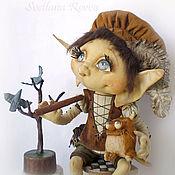 Куклы и игрушки ручной работы. Ярмарка Мастеров - ручная работа Домашний эльфик Джино и кот Жакоб. Handmade.