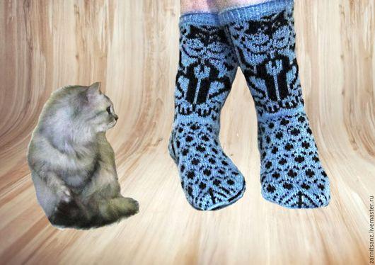 """Носки, Чулки ручной работы. Ярмарка Мастеров - ручная работа. Купить носки  """"Кот Василий"""" подарок женщине девушке. Handmade."""