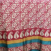 Материалы для творчества ручной работы. Ярмарка Мастеров - ручная работа Ткань сари, винтаж, квадраты с орнаментом, 5 метров. Handmade.