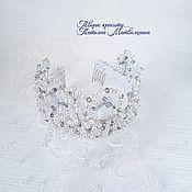 Свадебный салон handmade. Livemaster - original item Wedding tiara-crown. Tiara for bride. A crown for the Queen.. Handmade.